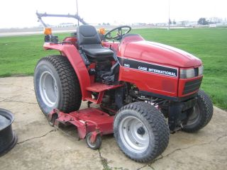 Case 1140 Tractor With Mower photo
