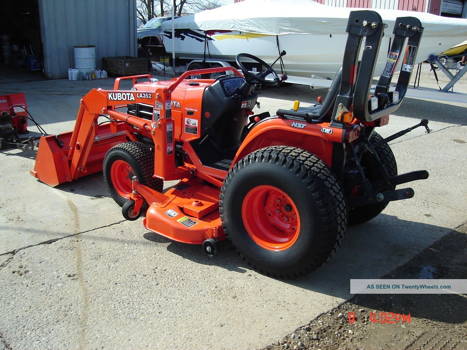 Kubota Mower Blades : Kubota b hp wd tractor with loader inch