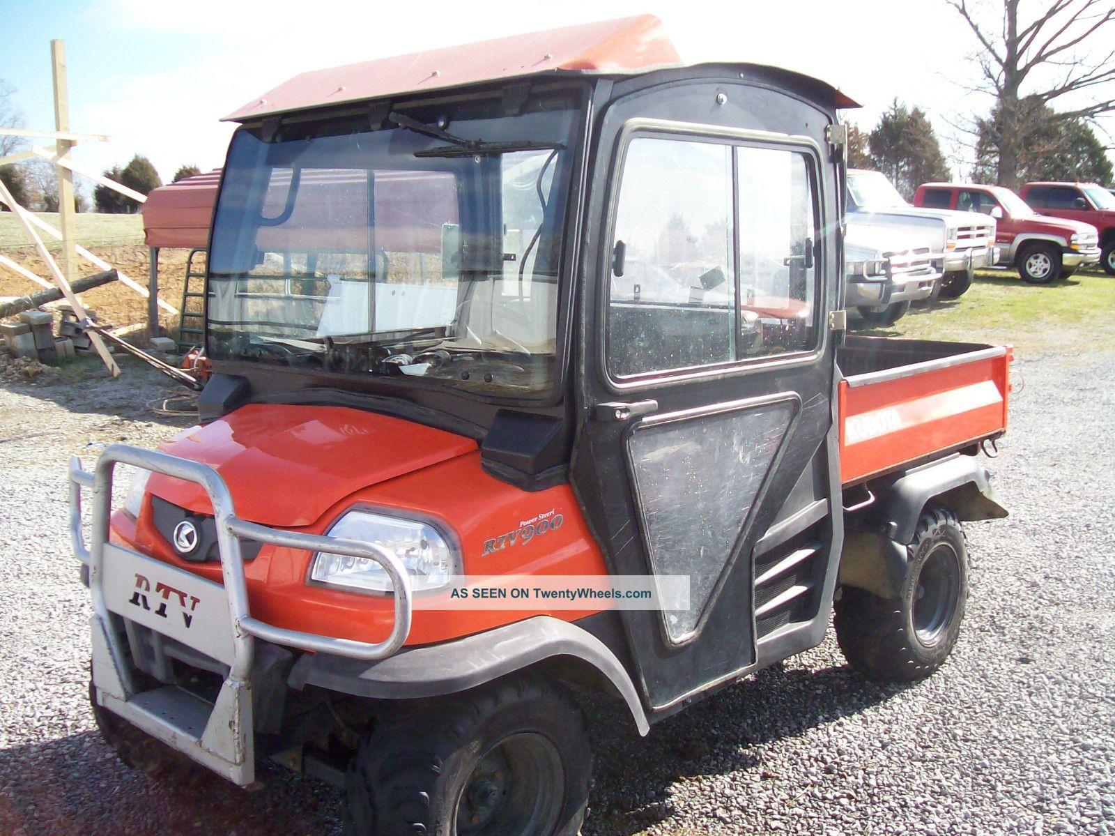 2005 Kubota Diesel Rtv 900 1399 Hrs 4x4 Hard Cab,  Heat Utility Vehicles photo
