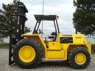 2001 Sellick Sd80 8000 Lb Capacity Forklift Lift Truck Rough Terrain Tires photo
