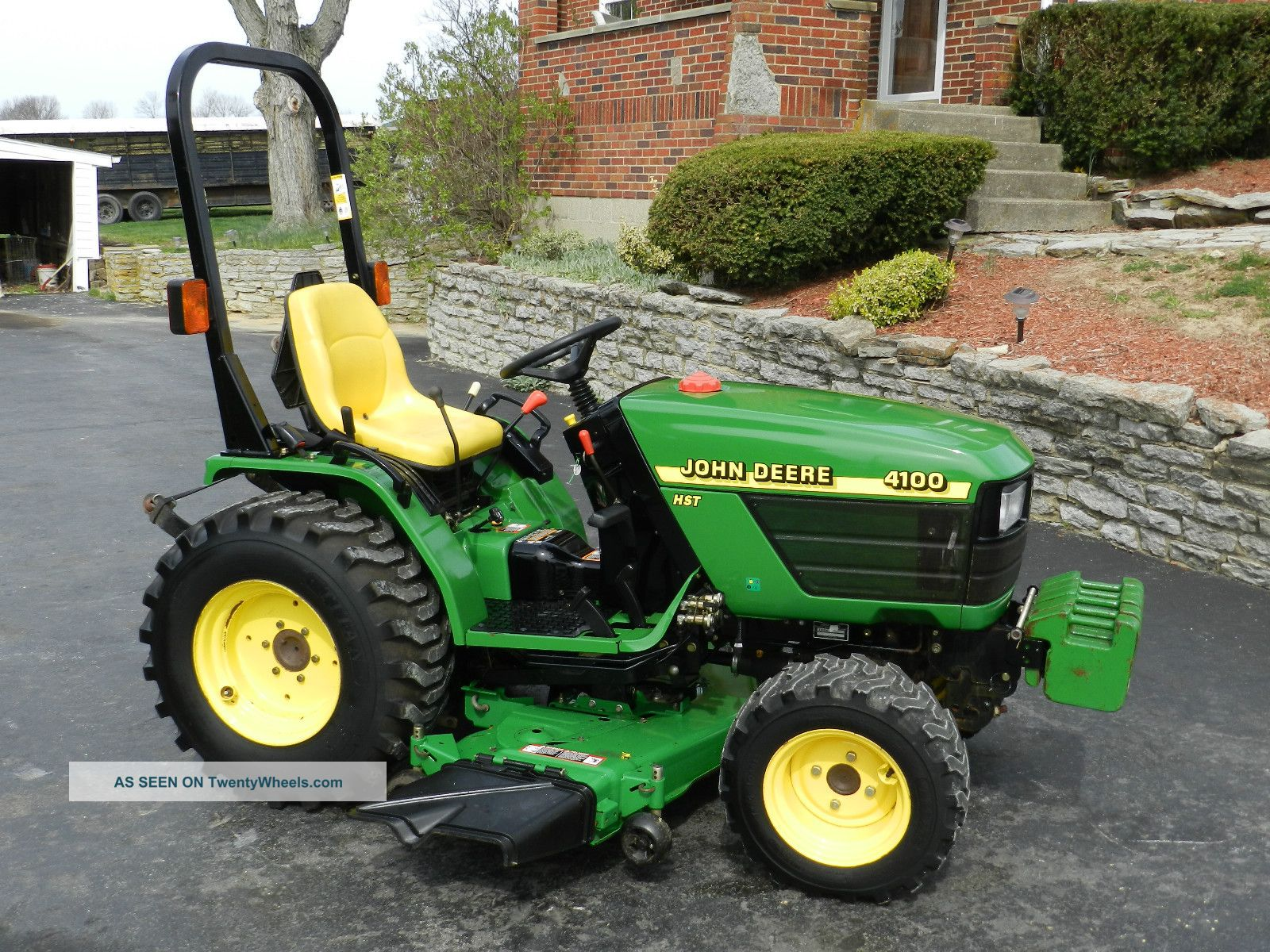 John Deere 4100 Compact Tractor & 54 In Belly Mower - - 4x4 - 450 Hrs Tractors photo