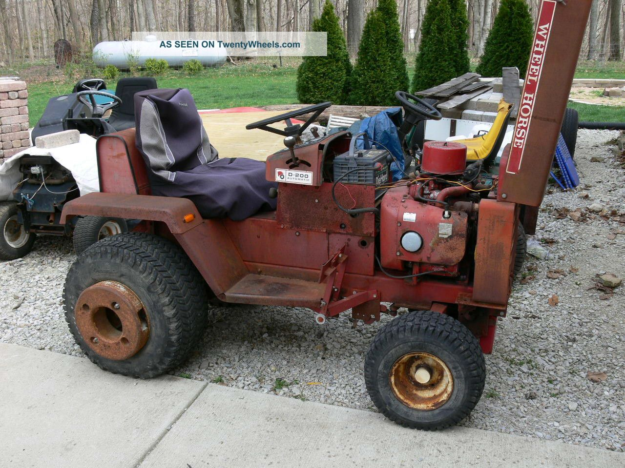 Wheel Horse Garden Tractor With Pto And 3 Point : Wheel horse d runs good with point and pto