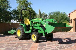 2009 John Deere 3250 Acreage Tractor With Loader And Mower Only 29 Hours photo