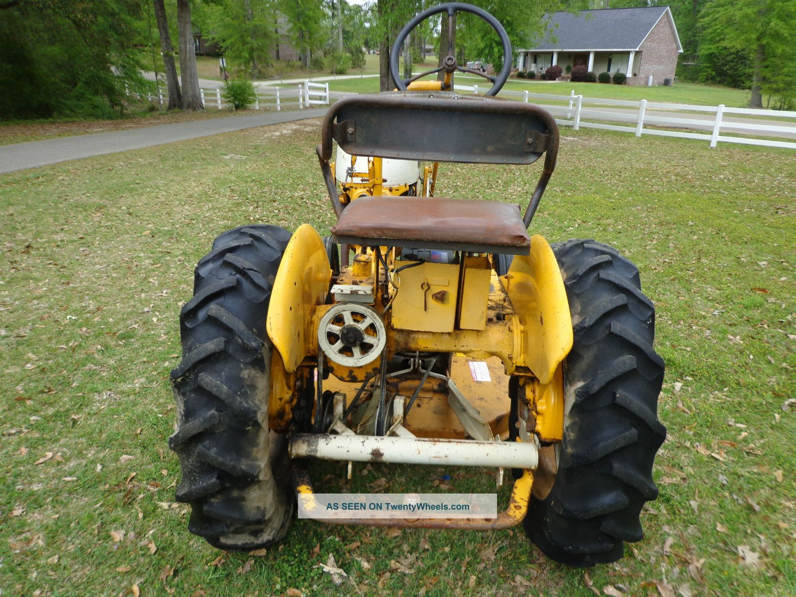 4756 1977 international harvester cub tractor wbelly mower in mississippi on belly dump semi trailers