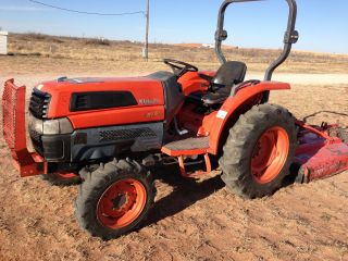 2005 Kubota L3130d,  738 Hours,  With Rhino 160 60 In.  Mower photo