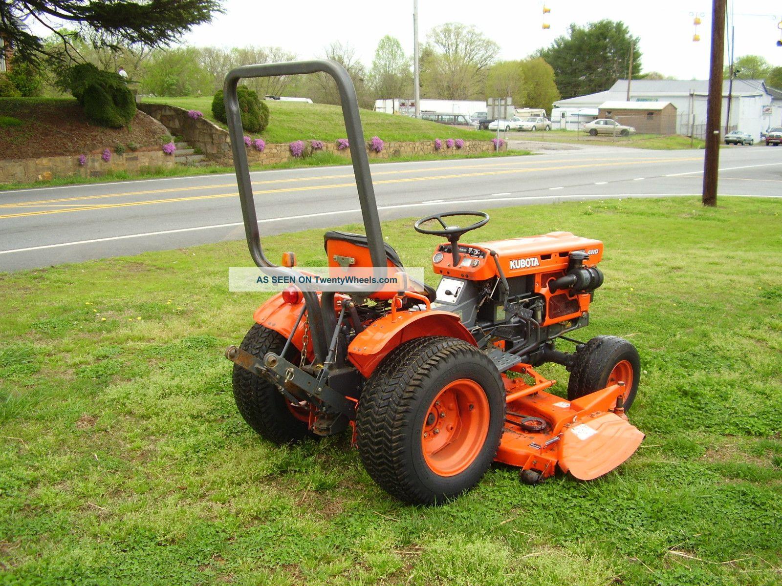 Kubota B7100 Backhoe Attachment : Style kubota b hydrostatic mower tractor
