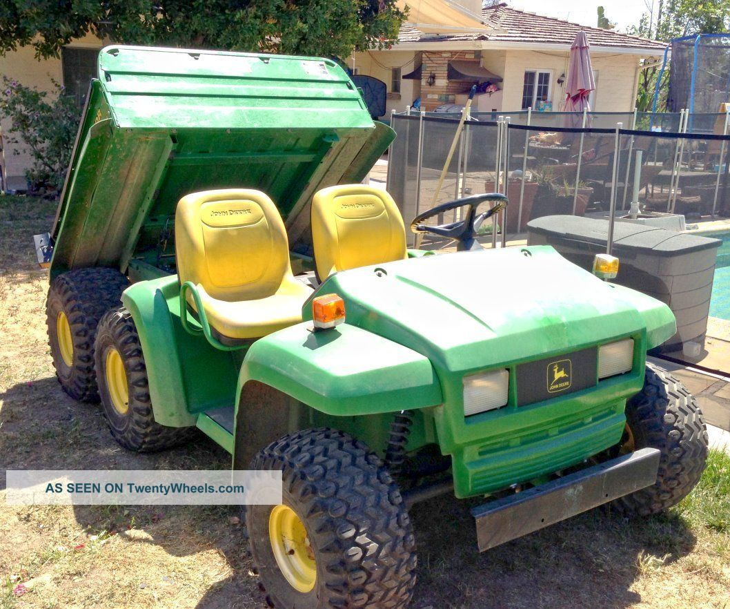 2002 John Deere Gator 6x4 Diesel W/ Power Dump Yanmar Wow Utility Vehicles photo