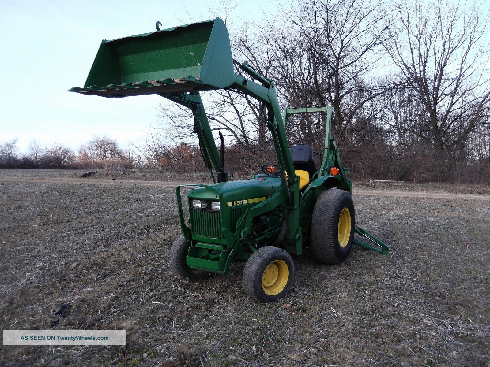 John Deere 850 Diesel Tractor : John deere wd diesel tractor with loader and backhoe