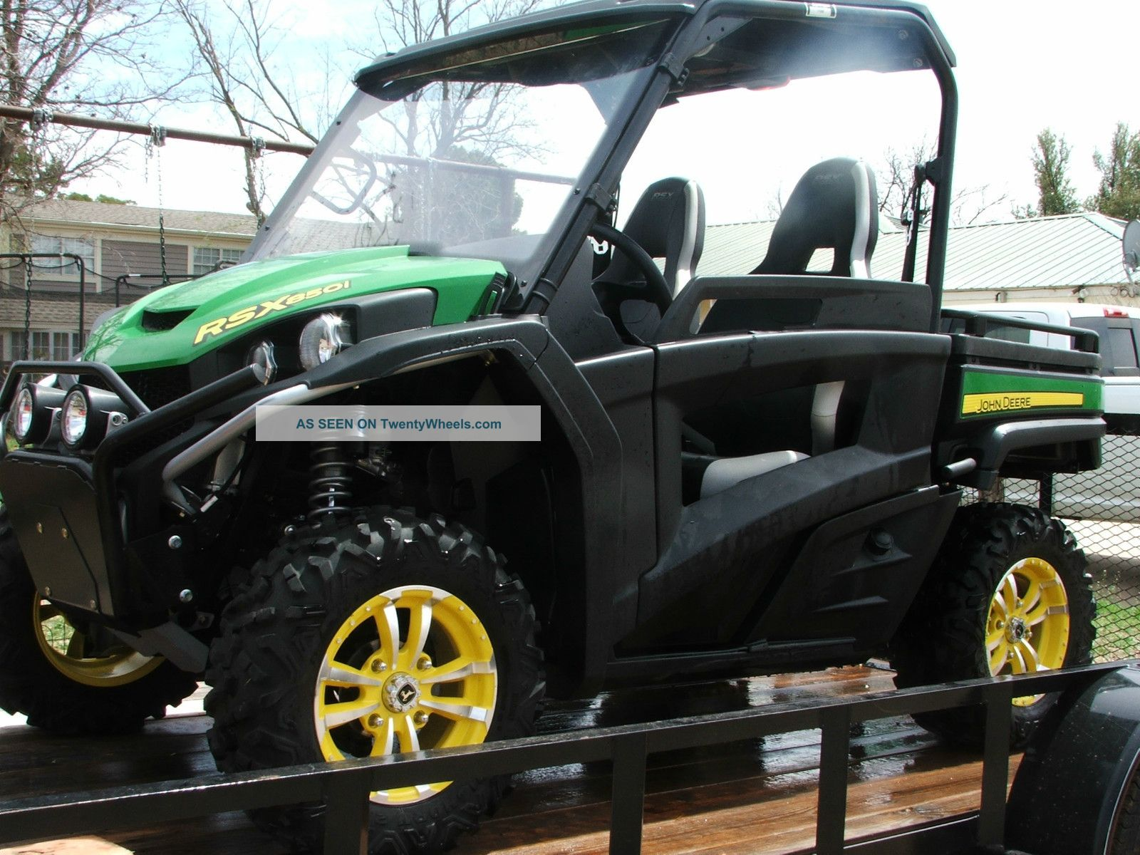 2012 John Deere Gator Rsx 850i With Lamar Trailer Utility Vehicles photo
