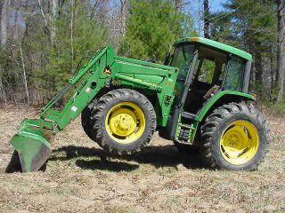 John Deere 6310 4x4 Farm Tractor 3 - Point Hitch 99 Hp 540 Pto 4 Cyl Diesel Erops photo