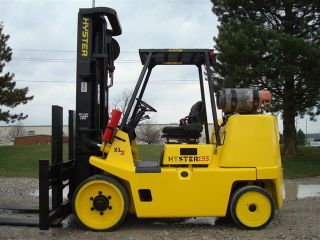 2007 Hyster 15500 Lb Capacity Forklift Lift Truck Cushion Tires Painted/serviced photo