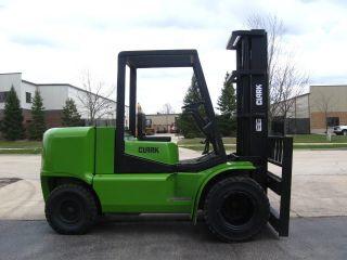 2000 Clark Cgp55 Forklift 11000lb Diesel Pneumatic Lift Truck photo