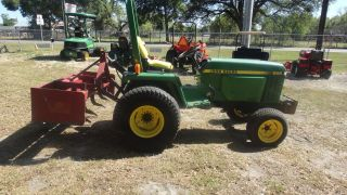 John Deere 855 4x4 With Box Blade,  Loader Valve,  And Hyd Top Link photo