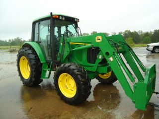2005 John Deere 6420 Cab Tractor With 640 Loader photo