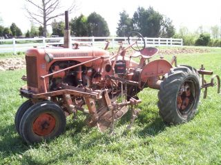 Allis Chalmers Ca Live Power With 2 Row Culitervators Side Dresser,  And Tools photo