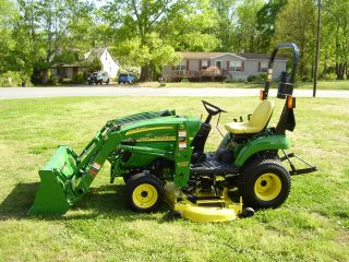 John Deere 2305 4 X 4 Loader Mower Tractor Only 54 Hours photo