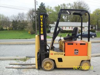1985 Hyster Electric 36 Volt 5000 Lb Forklift 530 photo