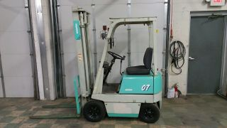 Compact Komatsu 2000lb Pneumatic Tire Forklift photo