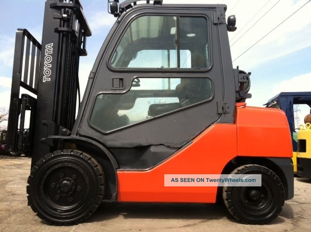 2008 Toyota Pneumatic 6000 Lb 8fgu30 Full Cab Forklift Lift Truck Forklifts & Other Lifts photo