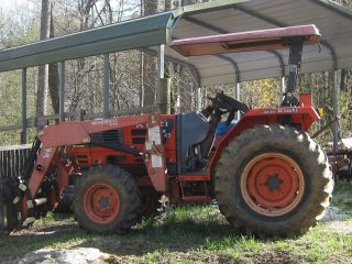 Kioti Dk45 4wd Tractor With Woods Front Loader photo