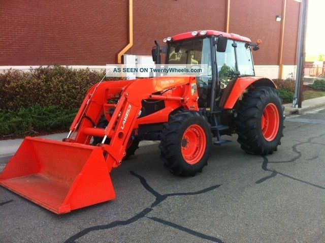 2010 Kubota M100x 4x4 Enclosed Cab Tractor With Loader Only 530 Hrs. Tractors photo