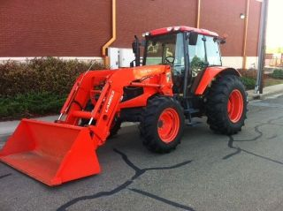 2010 Kubota M100x 4x4 Enclosed Cab Tractor With Loader Only 530 Hrs. photo