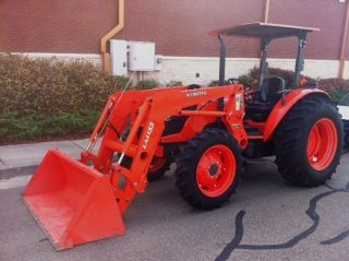 2010 Kubota M7040 4x4 Tractor With Loader Only 544 Hrs photo