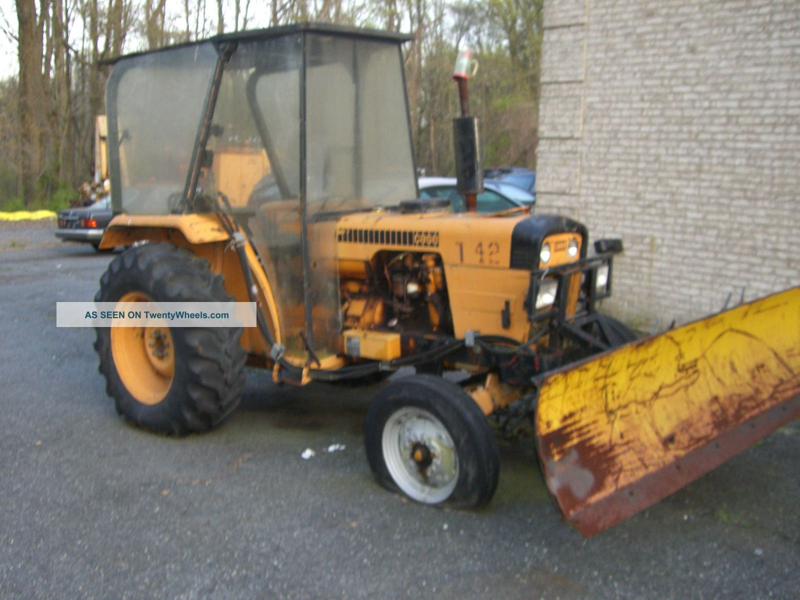 Case Tractor With Front Snow Blade Tractors photo