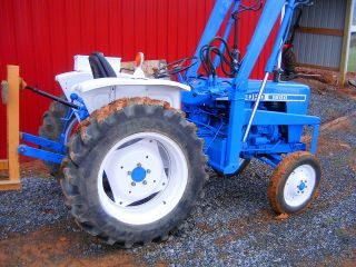 Ford 1600 Compact Tractor With Loader And Bushhog Low Reserve photo