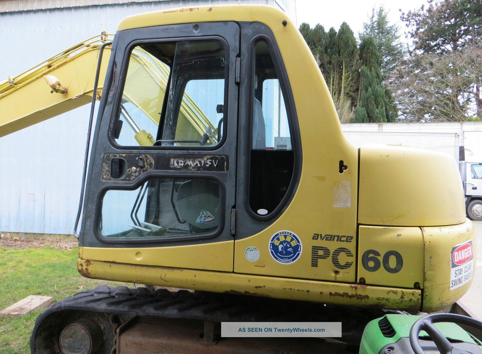 Komatsu Pc 60 Rubber Trac Excavators photo
