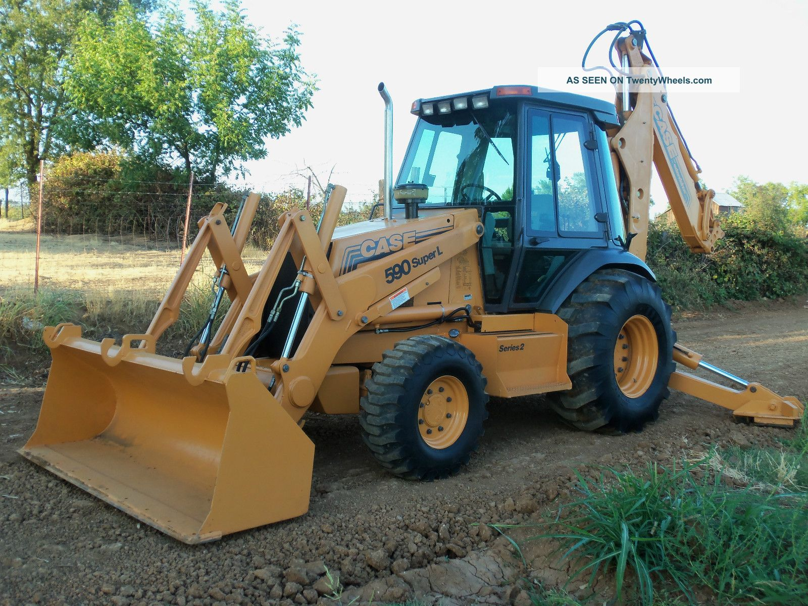 Case 590 L 4x4 Extendahoe Backhoe Loader Tractor Backhoe Loaders photo