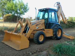 Case 590 L 4x4 Extendahoe Backhoe Loader Tractor photo