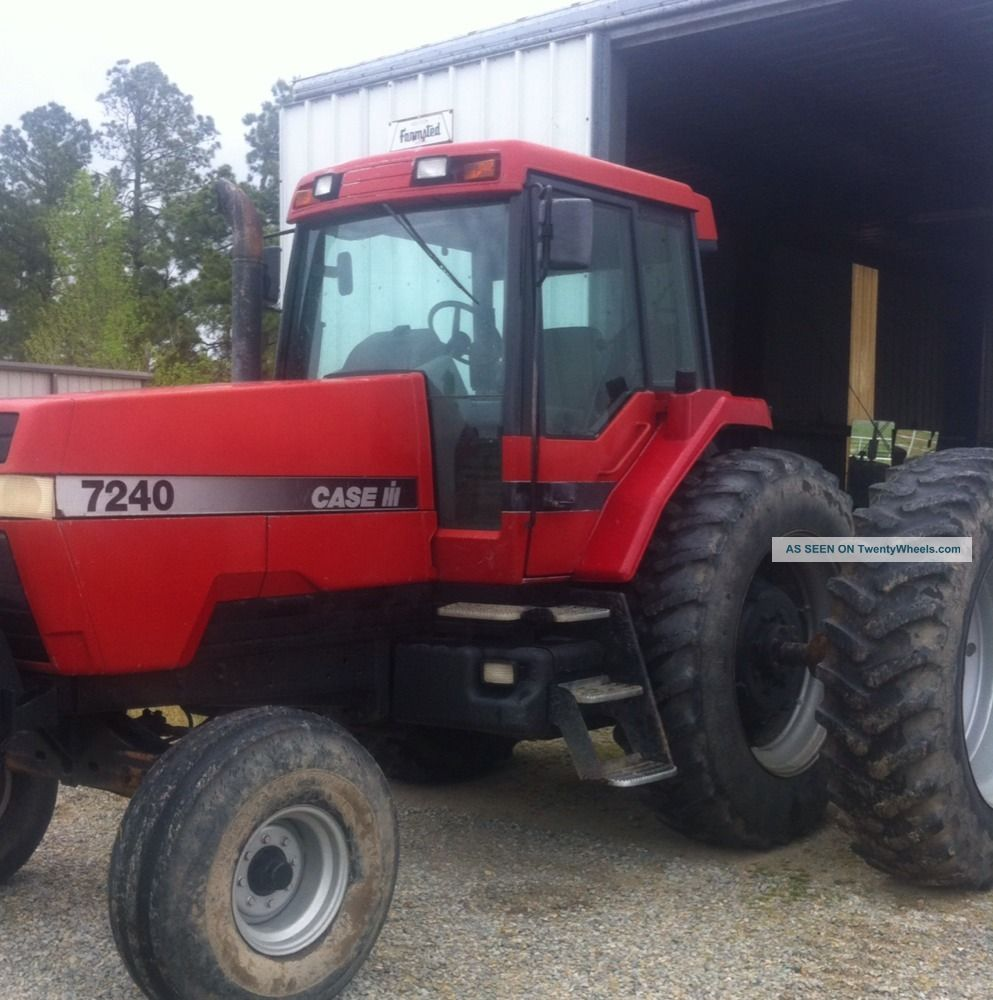 Case International 7240 Tractor.  Cab & Air.  18.  4 - 42 Rubber.  Dauls.  Quick Hitch. Tractors photo