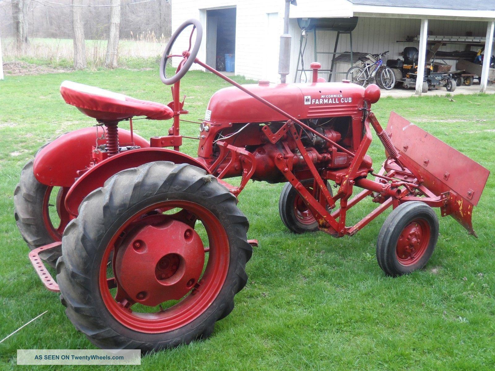 1949 Mccormick Farmall Cub Tractor