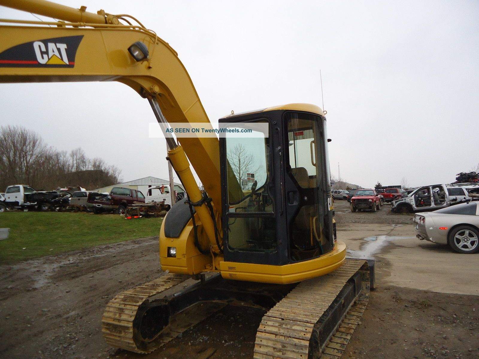 01 308b Cr Cat Caterpillar Excavator Steel Tracks Hoe Loader Excavators photo