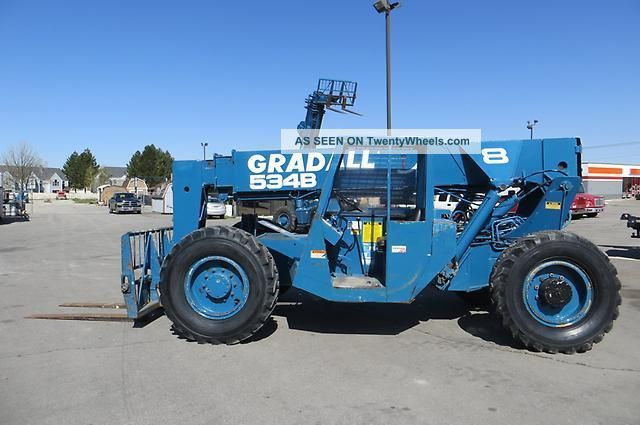 Forward Reach Forklift Gradall 534b8 4x4 8,  000 Lb 36 ' Reach Telehandler Perkins Forklifts & Other Lifts photo