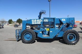 Forward Reach Forklift Gradall 534b8 4x4 8,  000 Lb 36 ' Reach Telehandler Perkins photo