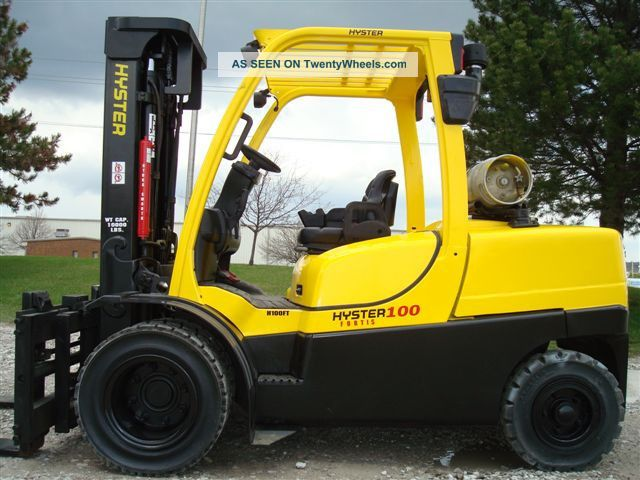 2007 Hyster 10000 Lb Capacity Forklift Lift Truck Pneumatic Tire Side Shifter Forklifts & Other Lifts photo