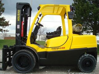 2007 Hyster 10000 Lb Capacity Forklift Lift Truck Pneumatic Tire Side Shifter photo