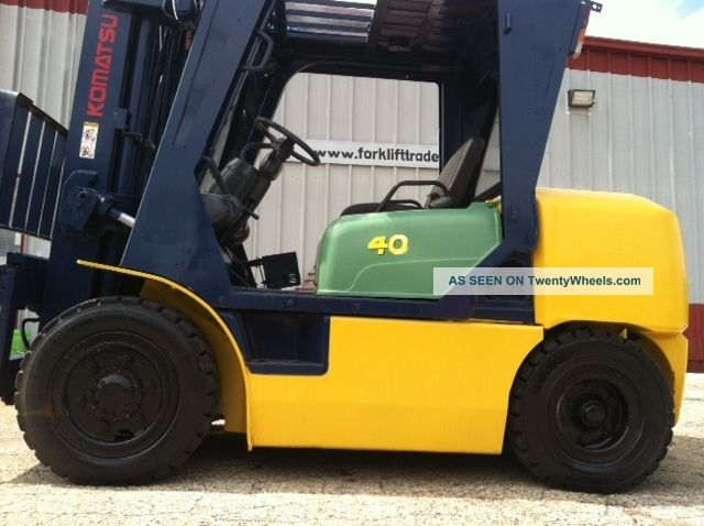 Komatsu Diesel Pneumatic 8000 Lb Fd40zt2 - 7 Forklift Lift Truck Forklifts & Other Lifts photo