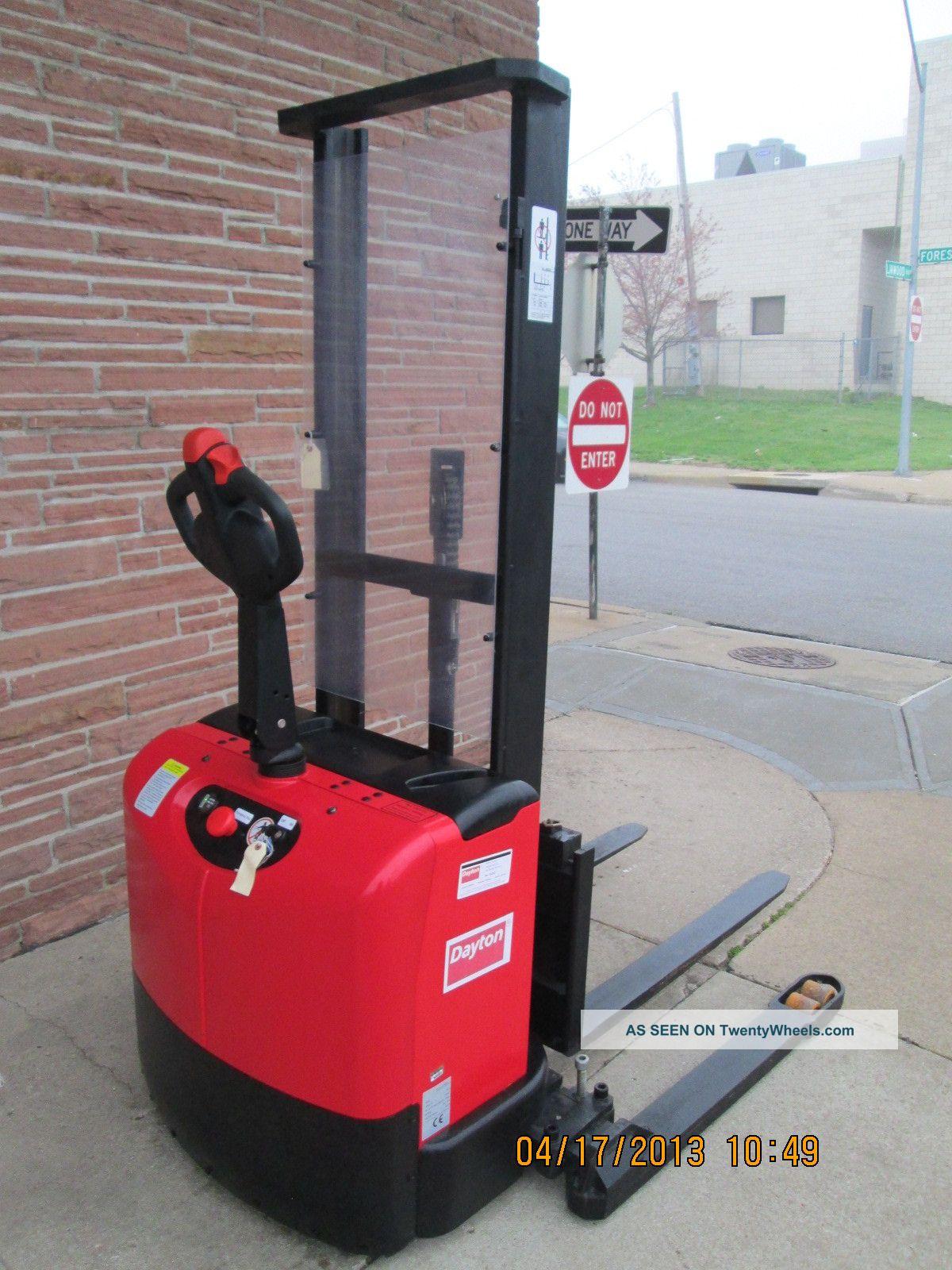 Dayton Adjustable Base Stacker Model 2lec2 Forklifts & Other Lifts photo