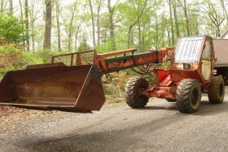 1998 Sky Trac 5522,  4 - Wd,  4 - Ws,  Two Stage Boom,  76 Hp,  Forks & Bucket,  Serviced photo