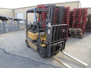 2003 Cat Gc20k Forklift 83/189 Triple,  4000lb Cap,  Lp,  Cushion Tires photo