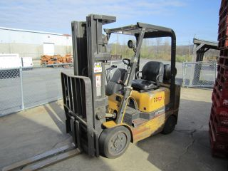 2001 Cat Gc20k Forklift 83/188 Triple,  4000lb Cap,  Lp,  Cushion Tires photo