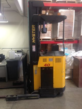 Hyster Lift Truck Narrow Aisle / N40xmr3 Forklift + Battery photo