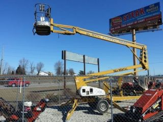 Nifty Tm40hge 46 ' Towable Articulating Boom Lift,  2005 photo