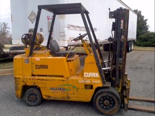 1983 Clark 10000 Lb Forklift 3 Stage Mast Lp Cushion - Cheap photo