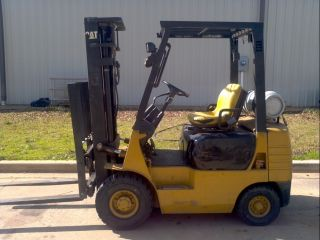 Caterpillar 3500 Lb Sideshifter Forklift 3 Stage Air Tires Pneumatic Lp 3000 photo