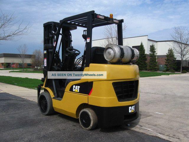 Four Way Side Loader Forklift Mitsubishi Rbm2025k Series: 2008 Caterpillar C6000 6000 Lb Capacity Lift Truck