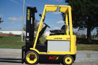 Hyster 6000 Lb Capacity Electric Forklift Lift Truck Recondtioned Bat 2485 Hours photo